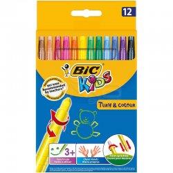 Bic - Bic Turn & Color Pastel Boya 12li