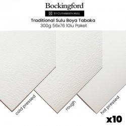 St Cuthberts - Bockingford Traditional Sulu Boya Tabaka 300g 56x76 10lu Paket