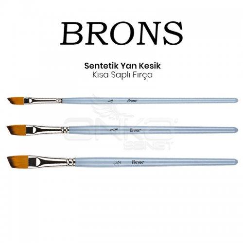 Brons Sentetik Yan Kesik Kısa Saplı Fırça
