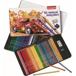 Bruynzeel - Bruynzeel Colouring and Drawing Products Boya Kalemi Seti 60lı 60312904