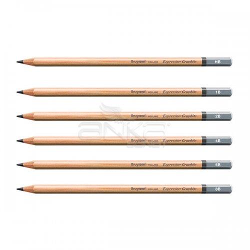 Bruynzeel Expression Graphite Dereceli Kalem 6lı Set
