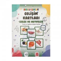 Bubu - Bubu Akıllı Çocuk Gelişim Kartları Sebzeler ve Meyveler (1)