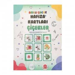 Bubu Akıllı Çocuk Hafıza Kartları Çiçekler - Thumbnail