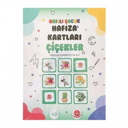 Bubu Akıllı Çocuk Hafıza Kartları Çiçekler