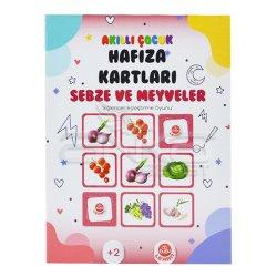 Bubu - Bubu Akıllı Çocuk Hafıza Kartları Sebze ve Meyveler (1)