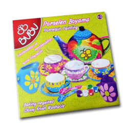 BuBu Porselen Boyama Seti Fincanlar - Thumbnail