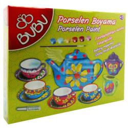 BuBu Porselen Boyama Seti Simli - Thumbnail