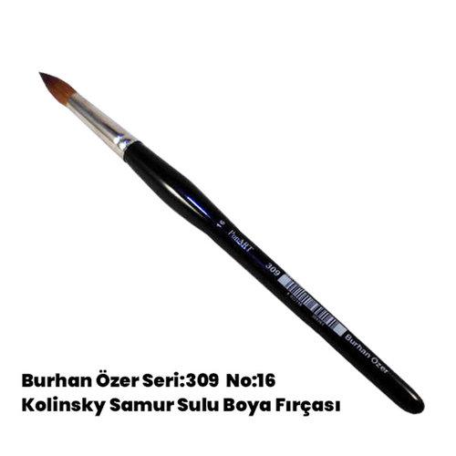 Burhan Özer Seri:309 No:16 Kolinsky Samur Sulu Boya Fırçası