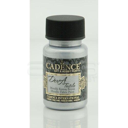 Cadence Dora Textile Metalik Kumaş Boyası 50ml 1132 Gümüş