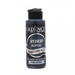 Cadence - Cadence Hybrid Acrylic For Multisurfaces Tüm Yüzeyler İçin Akrilik Boya 120ml H060 Siyah