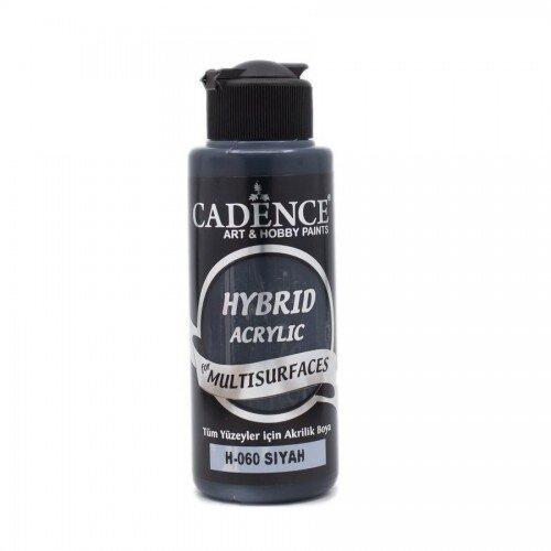 Cadence Hybrid Acrylic For Multisurfaces Tüm Yüzeyler İçin Akrilik Boya 120ml H060 Siyah - H060 Siyah