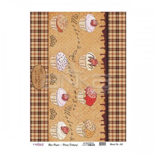 Cadence Pirinç Dekopaj Kağıdı Model 015 29x42cm