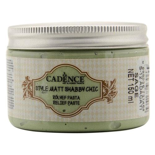 Cadence Shabby Chic Rölyef Pasta 150ml SR12 Adaçayı-Sage - SR12 Adaçayı - Sage