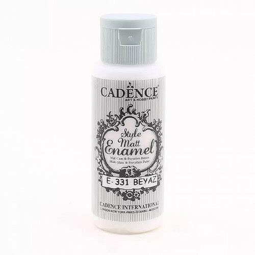 Cadence Style Matt Enamel E-331 Beyaz-White Cam & Porselen Boyası 59ml