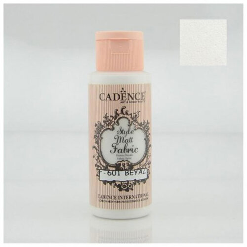 Cadence Style Matt Fabric Kumaş Boyası 59ml F601 Beyaz-White
