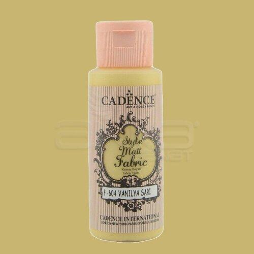 Cadence Style Matt Fabric Kumaş Boyası 59ml F604 Vanilya Sarı-Vanilla Yellow