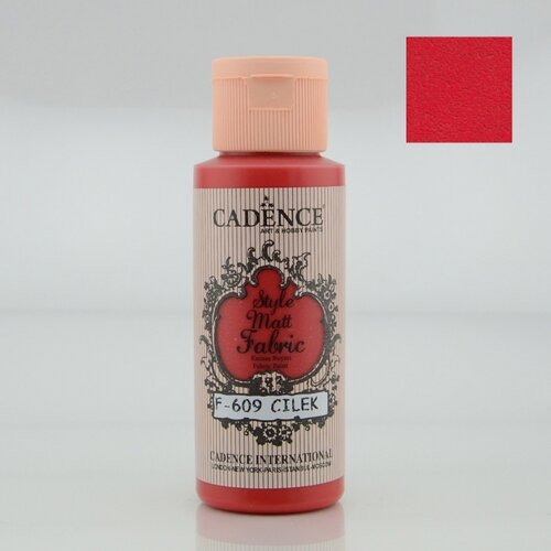 Cadence Style Matt Fabric Kumaş Boyası 59ml F609 Çilek-Strawberry
