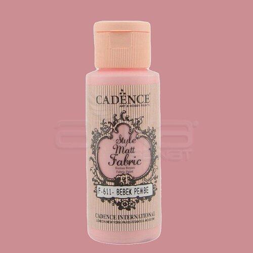 Cadence Style Matt Fabric Kumaş Boyası 59ml F611 Bebek Pembe-Baby Pink