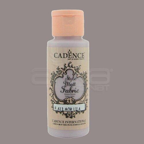 Cadence Style Matt Fabric Kumaş Boyası 59ml F613 Mor Lila-Purple Lilac