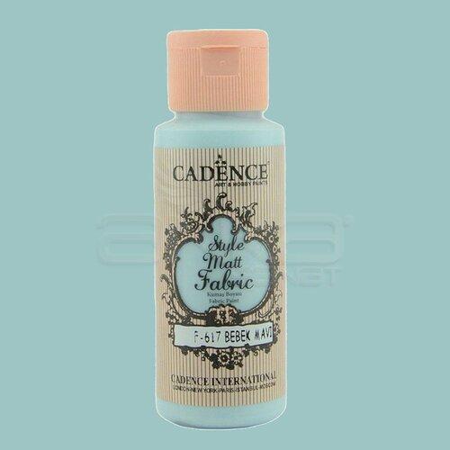 Cadence Style Matt Fabric Kumaş Boyası 59ml F617 Bebek Mavi-Baby Blue