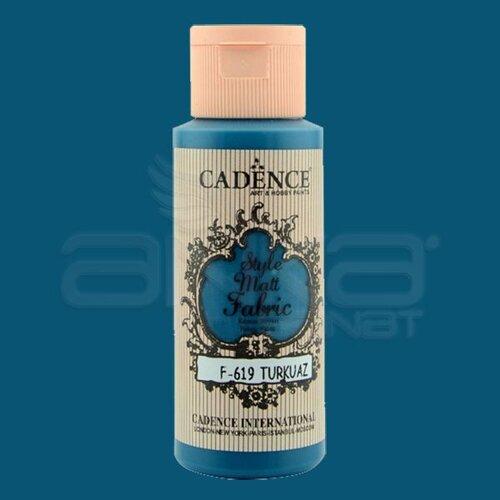 Cadence Style Matt Fabric Kumaş Boyası 59ml F619 Turkuaz-Turquoise