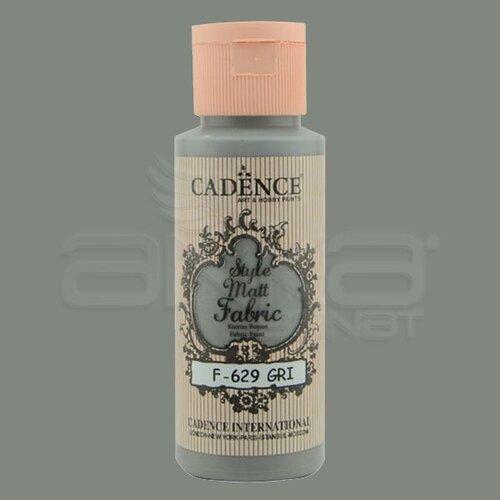 Cadence Style Matt Fabric Kumaş Boyası 59ml F629 Gri-Gray
