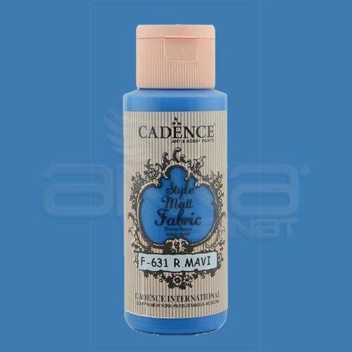 Cadence Style Matt Fabric Kumaş Boyası 59ml F631 Royal Mavi-Royal Blue