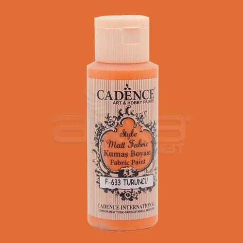 Cadence Style Matt Fabric Kumaş Boyası 59ml F633 Turuncu