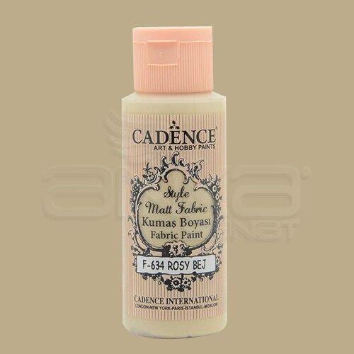 Cadence Style Matt Fabric Kumaş Boyası 59ml F634 Rosy Bej