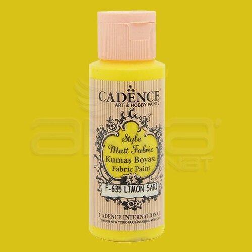 Cadence Style Matt Fabric Kumaş Boyası 59ml F635 Limon Sarı