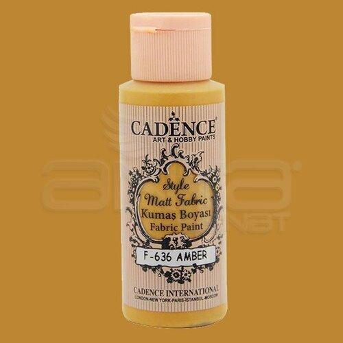 Cadence Style Matt Fabric Kumaş Boyası 59ml F636 Amber