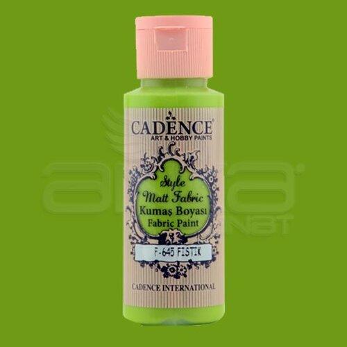 Cadence Style Matt Fabric Kumaş Boyası 59ml F645 Fıstık Yeşili