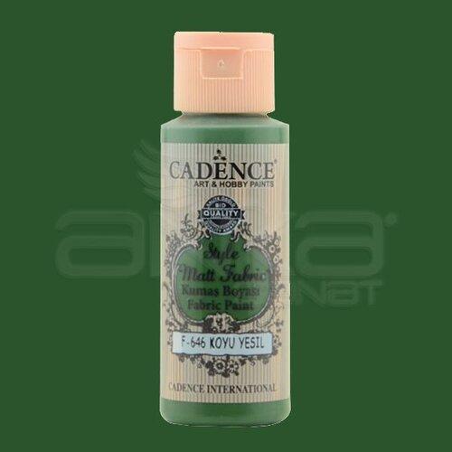 Cadence Style Matt Fabric Kumaş Boyası 59ml F646 Koyu Yeşil