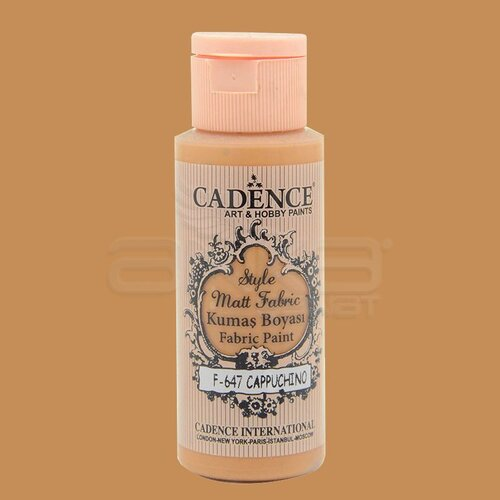 Cadence Style Matt Fabric Kumaş Boyası 59ml F647 Cappuchino