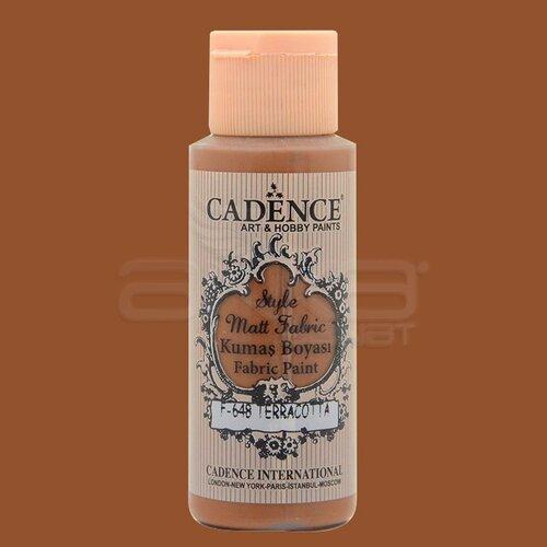 Cadence Style Matt Fabric Kumaş Boyası 59ml F648 Terracotta