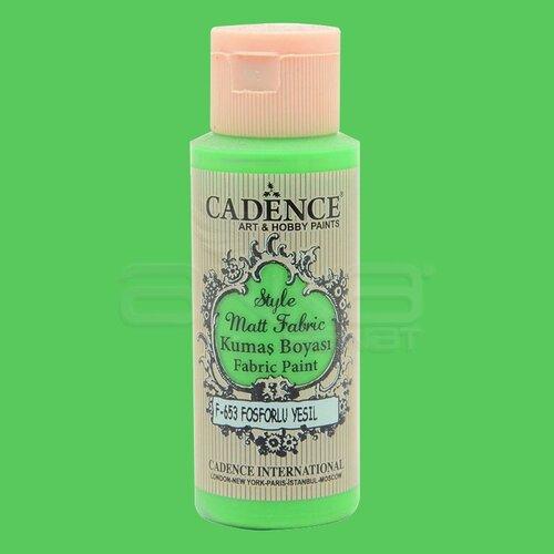 Cadence Style Matt Fabric Kumaş Boyası 59ml F653 Floresan Yeşil