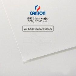Canson - Canson 1557 Çizim Kağıdı 200g 20li Paket