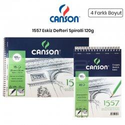 Canson - Canson 1557 Eskiz Defteri Spiralli 120g