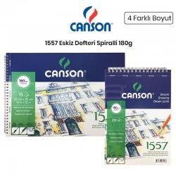 Canson - Canson 1557 Eskiz Defteri Spiralli 180g