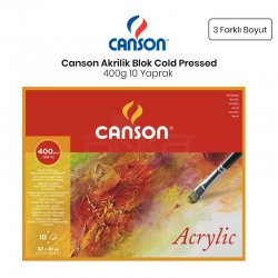 Canson - Canson Acrylic Blok Cold Pressed 400g 10 Yaprak