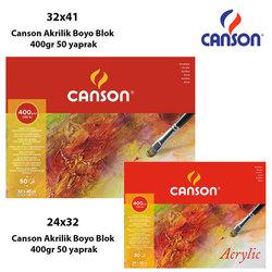 Canson - Canson Akrilik Boya Blok 400g 50 yaprak