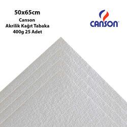 Canson - Canson Akrilik Kağıt Tabaka 50x65cm 400g 25 Adet (1)