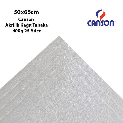 Canson Akrilik Kağıt Tabaka 50x65cm 400g 25 Adet