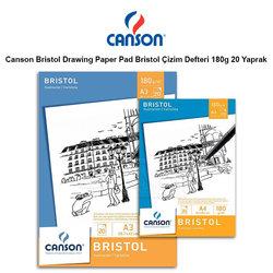 Canson - Canson Bristol Pad Bristol Çizim Defteri 180g 20 Yaprak