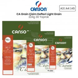 Canson - Canson CA Grain Çizim Defteri Light Grain 224g 30 Yaprak