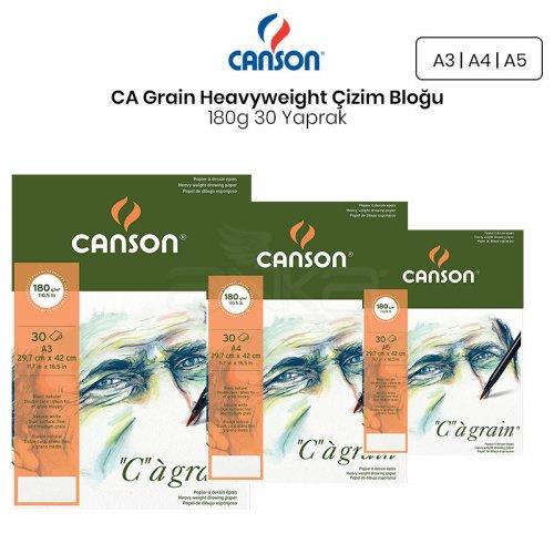 Canson CA Grain Heavyweight Çizim Bloğu 180g 30 Yaprak