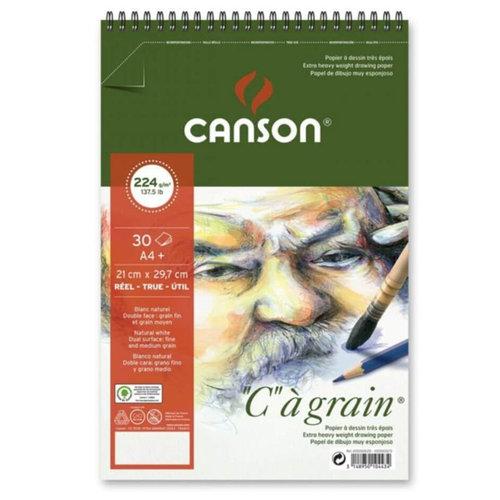 Canson CA Grain Çizim Bloğu 224g 30 Yaprak Spiralli