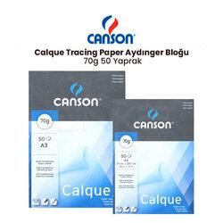 Canson - Canson Calque Tracing Paper Aydınger Bloğu 70g 50 Yaprak