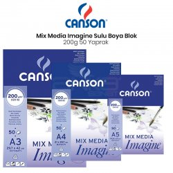 Canson Mix Media Imagine Blok 200g 50 Yaprak - Thumbnail