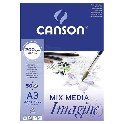 Canson Mix Media Imagine Blok 200g 50 Yaprak